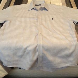 Polo short sleeve casual shirt - Large, 17 1/2